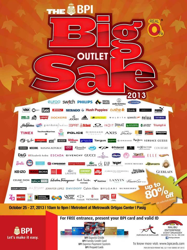 The Big Outlet Sale @ Metrotent, Metrowalk October 2013