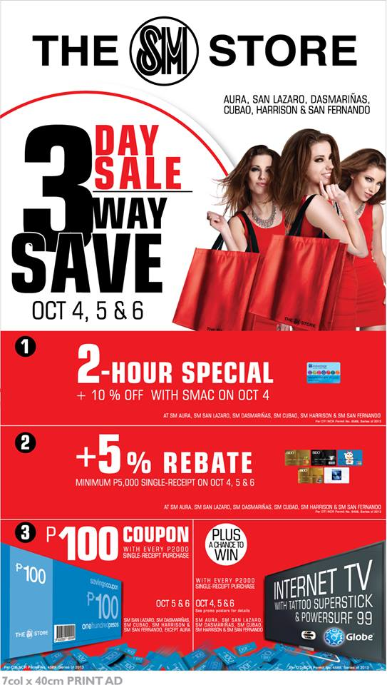 The SM Store 3-Day Sale October 2013
