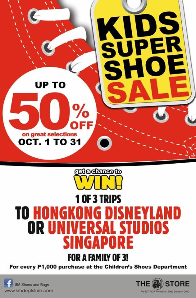 Kids Super Shoe Sale @ The SM Store October 2013