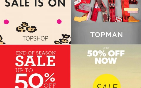 Topshop, Topman, Dorothy Perkins, Warehouse Mid-Season Sale October - November 2013