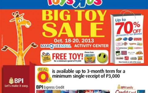 Toys R Us Big Toy Sale @ Marquee Mall October 2013