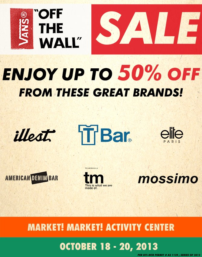 Vans, Mossimo, Team Manila Sale @ Market Market October 2013