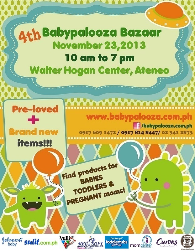 4th Babypalooza Bazaar @ Ateneo De Manila University November 2013