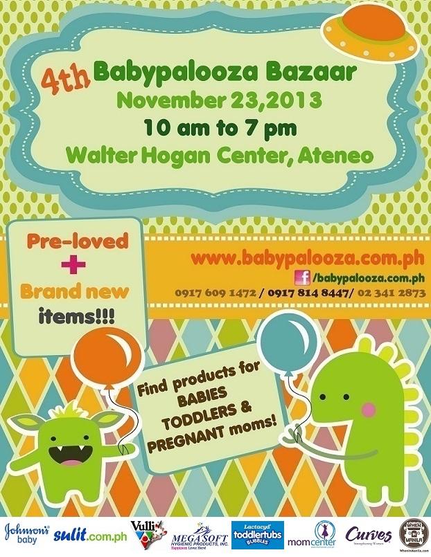 4th Babypalooza Bazaar @ Ateneo De Manila University November 2013