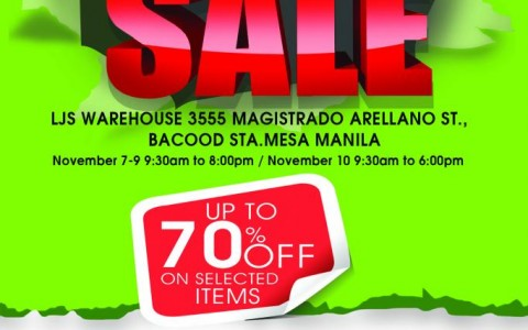 5th LJS Warehouse Sale November 2013