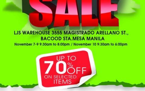 5th LJS Warehouse Sale November 2013