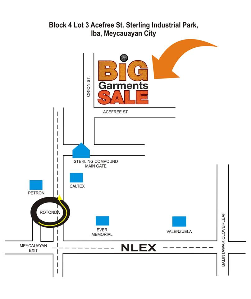 Big Garments Sale Location map