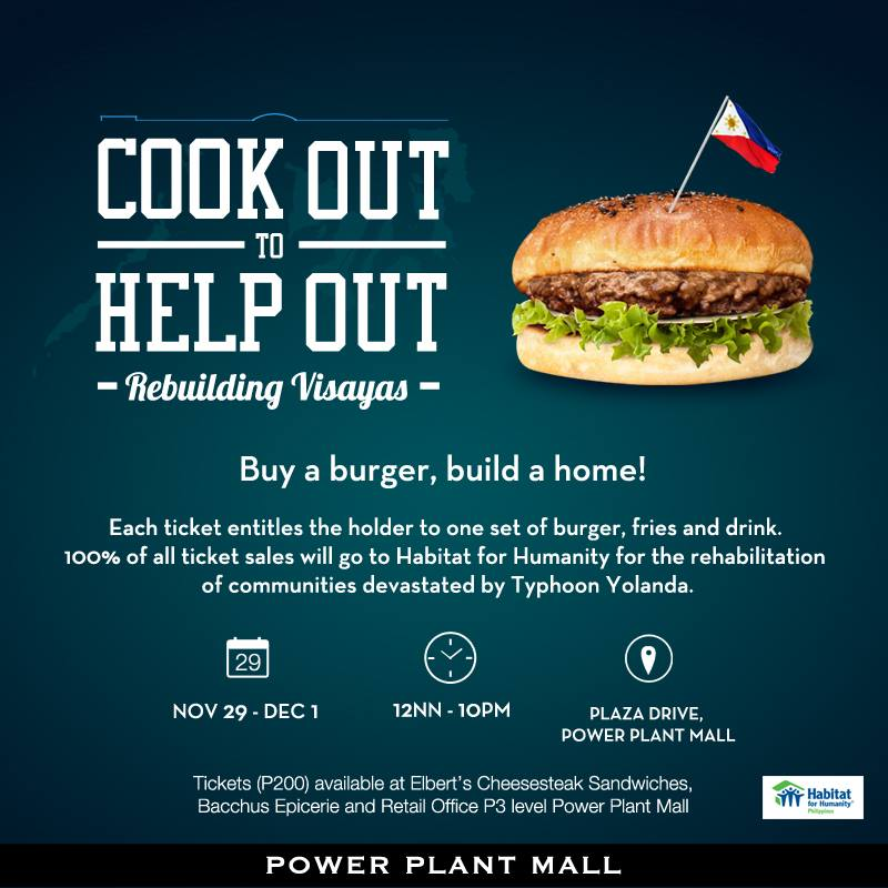 Cook Out to Help Out @ Power Plant Mall November - December 2013