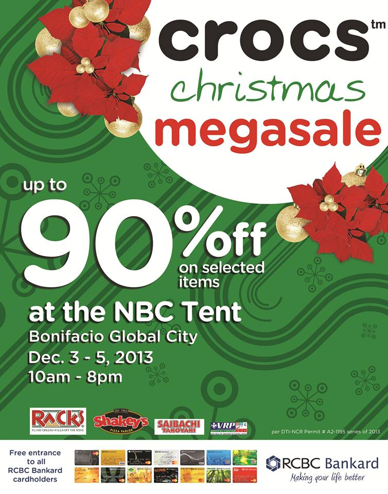 Crocs Christmas Megasale @ NBC Tent December 2013