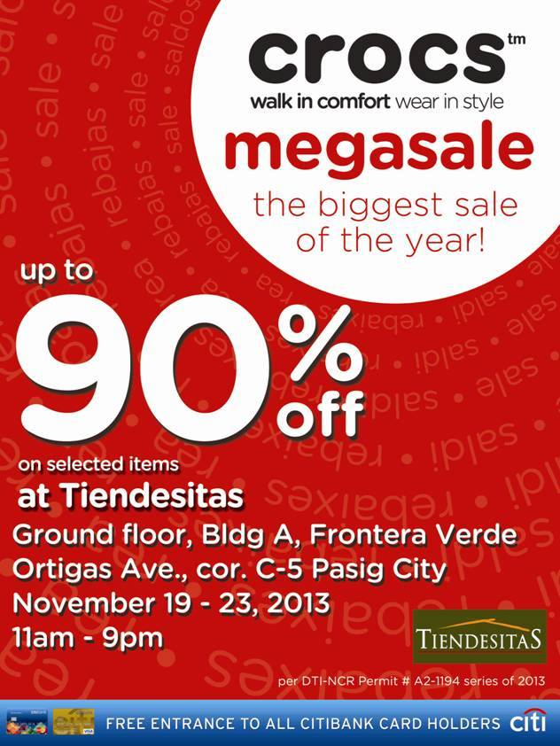 3754b31b918540 Crocs Megasale at Tiendesitas  November 19 – 23