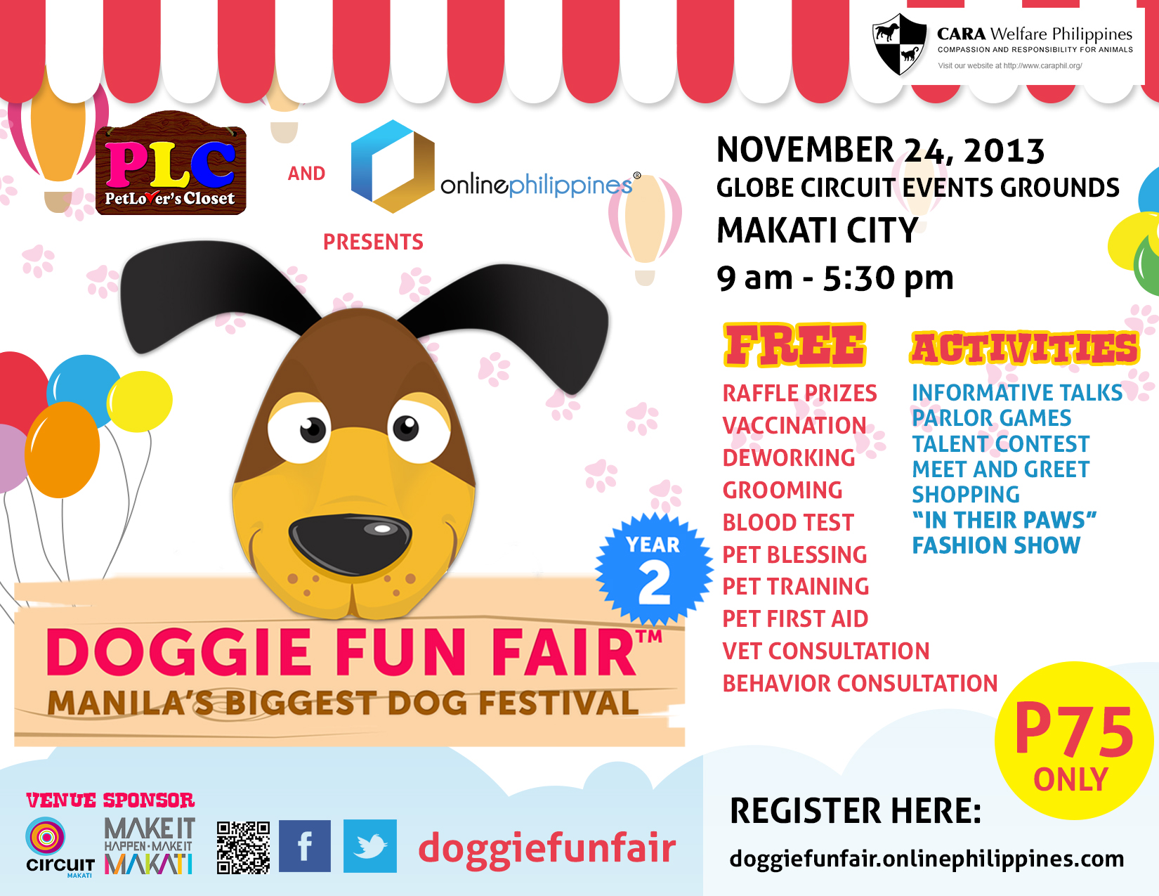 Doggie Fun Fair @ Globe Circuit Events Grounds November 2013