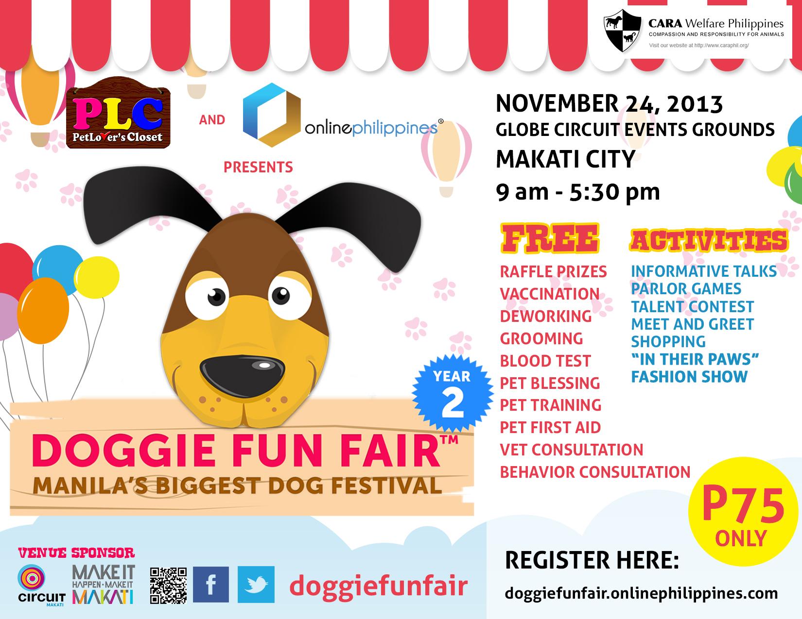 Doggie Fun Fair @ Globe Circuit Events Grounds November 2013