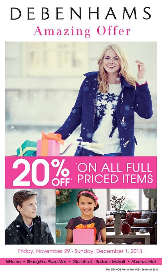 Debenhams Amazing Offer November - December 2013