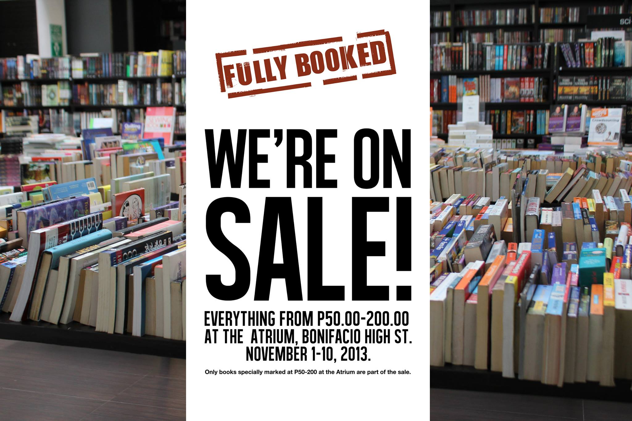 Fully Booked Sale @ Bonifacio High Street November 2013