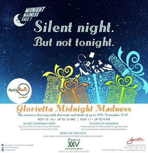 Glorietta Midnight Madness Sale November 2013