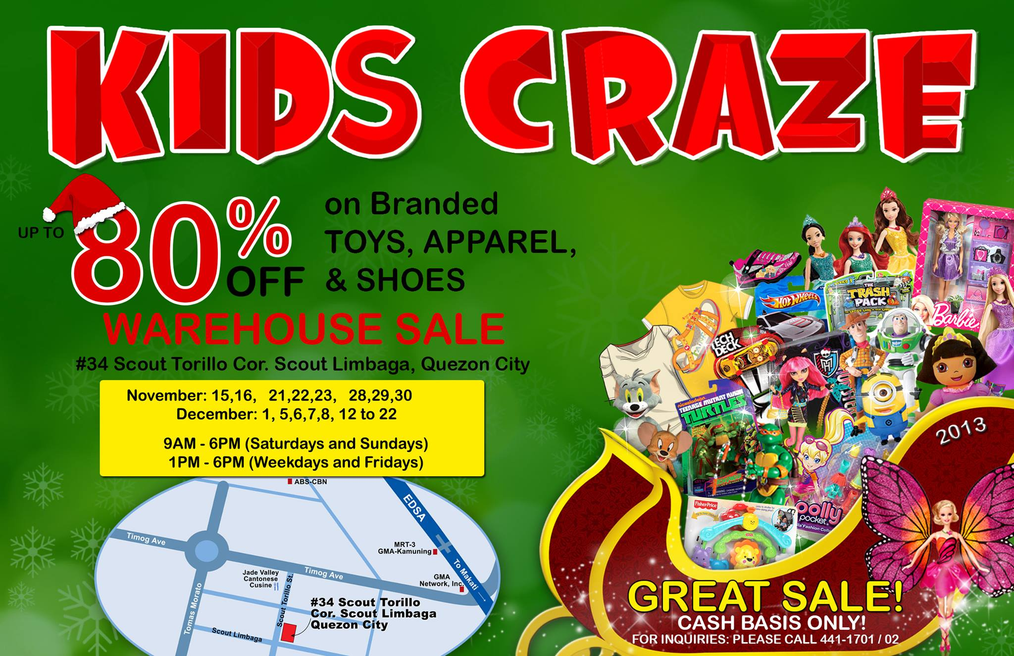 Kids Craze Warehouse Sale November - December 2013