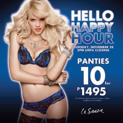 La Senza Happy Hour Sale November 2013