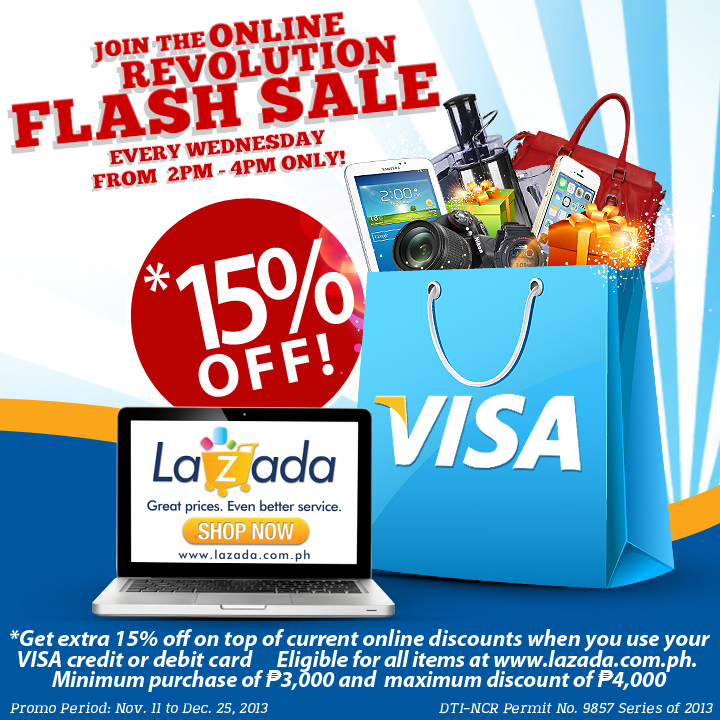 Lazada Online Revolution Flash Sale November - December 2013