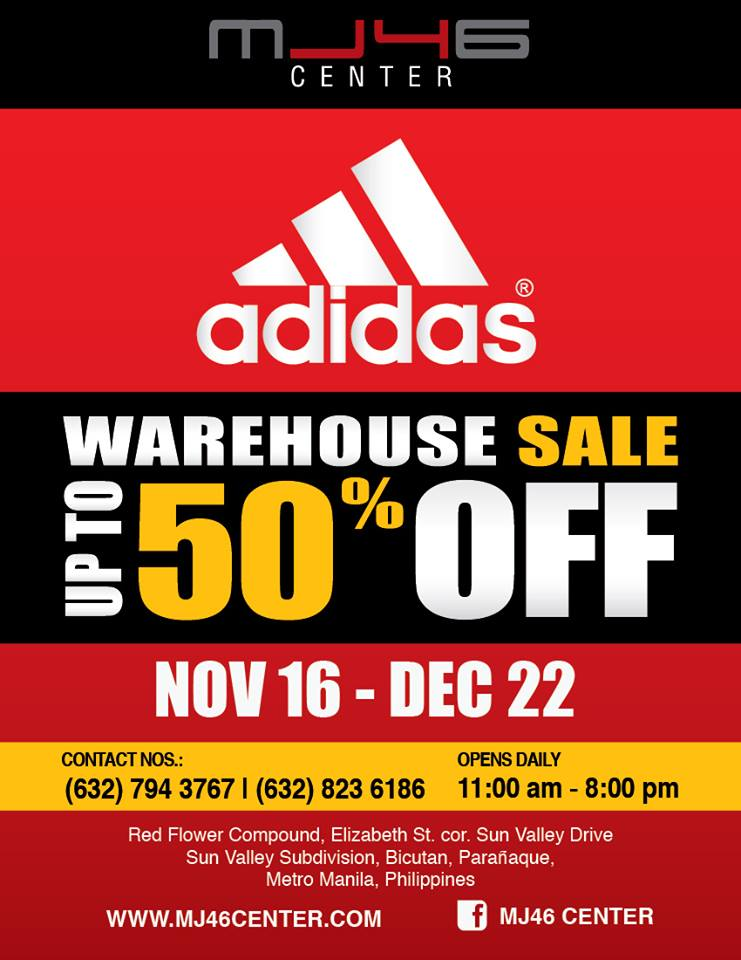 MJ46 Center Adidas Warehouse Sale November - December 2013