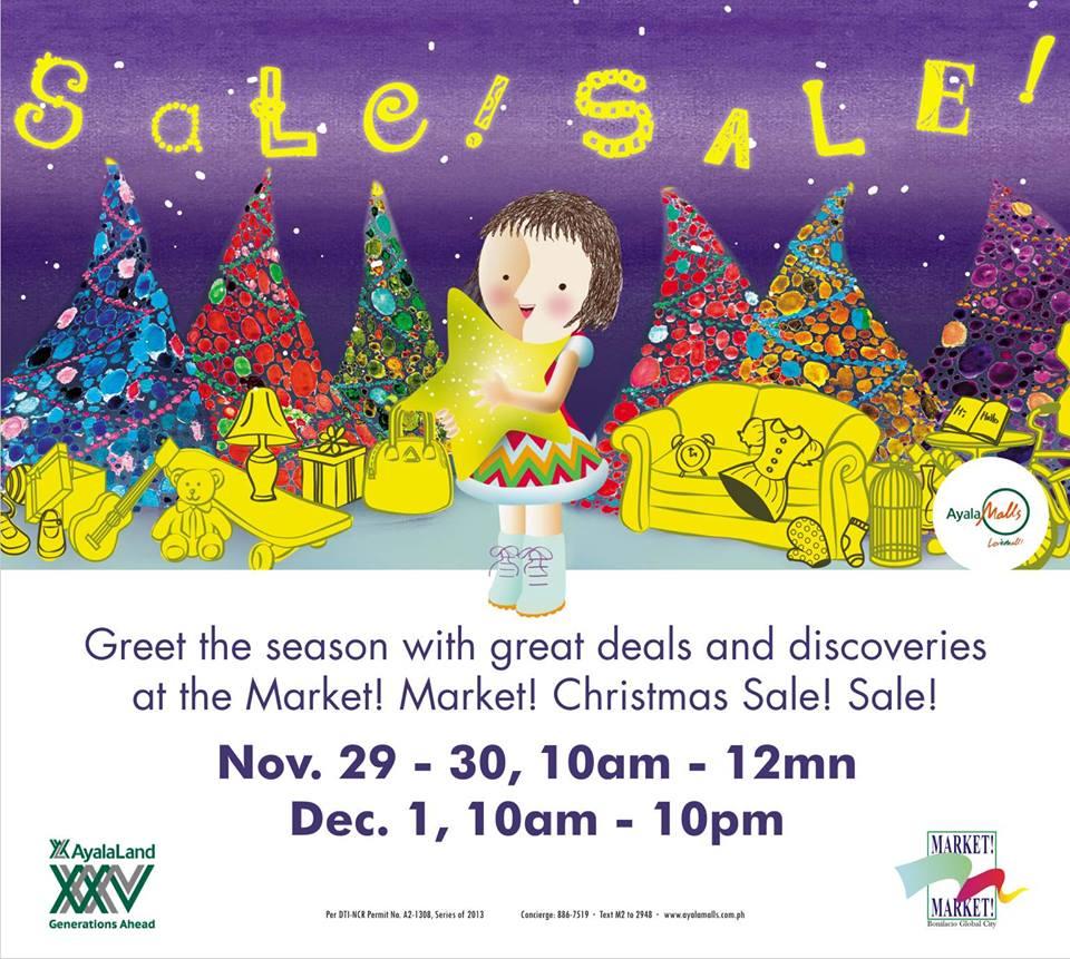 Market Market Christmas Sale! November - December 2013