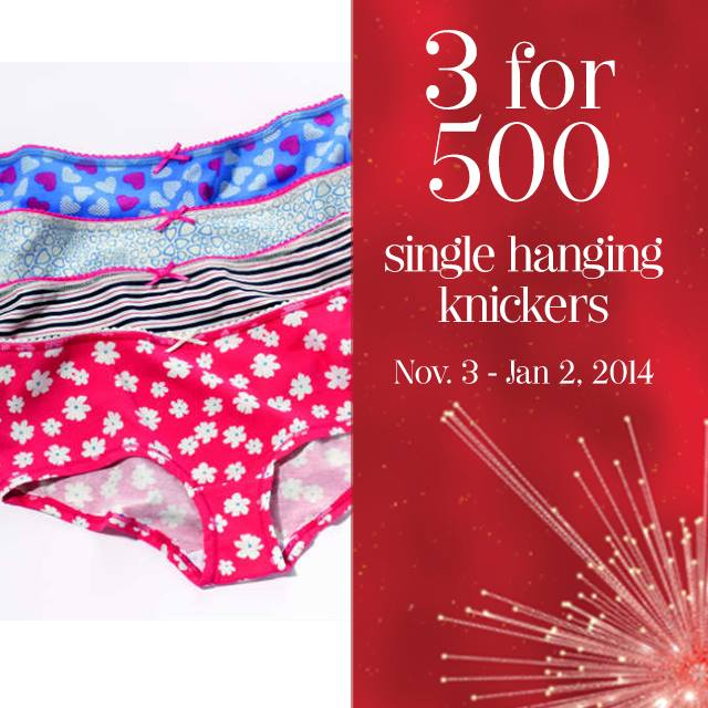 Marks & Spencer Single Hanging Knickers Sale November - January 2013