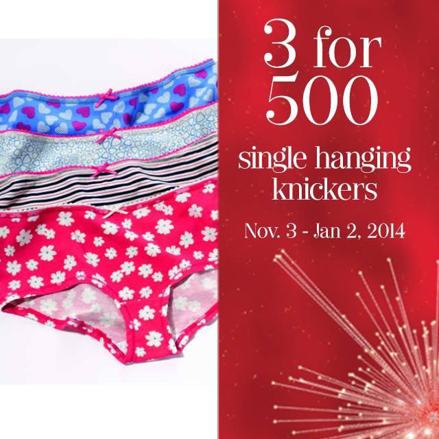 Marks & Spencer Single Hanging Knickers Sale November - January 2013