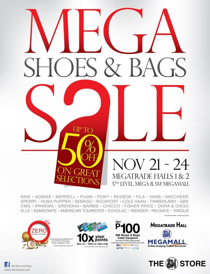Mega Shoes & Bags Sale @ SM Megatrade Hall November 2013