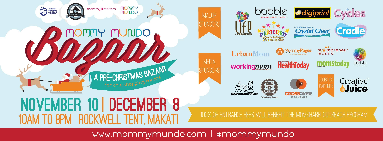Mommy Mundo Pre-Christmas Bazaa @ Rockwell Tent November & December 2013