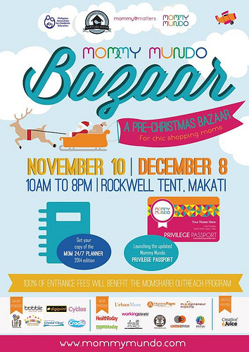 Mommy Mundo Pre-Christmas Bazaar @ Rockwell Tent November & December 2013