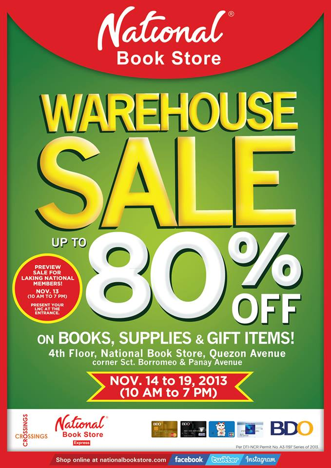 National Book Store Warehouse Sale @ NBS Quezon Avenue November 2013