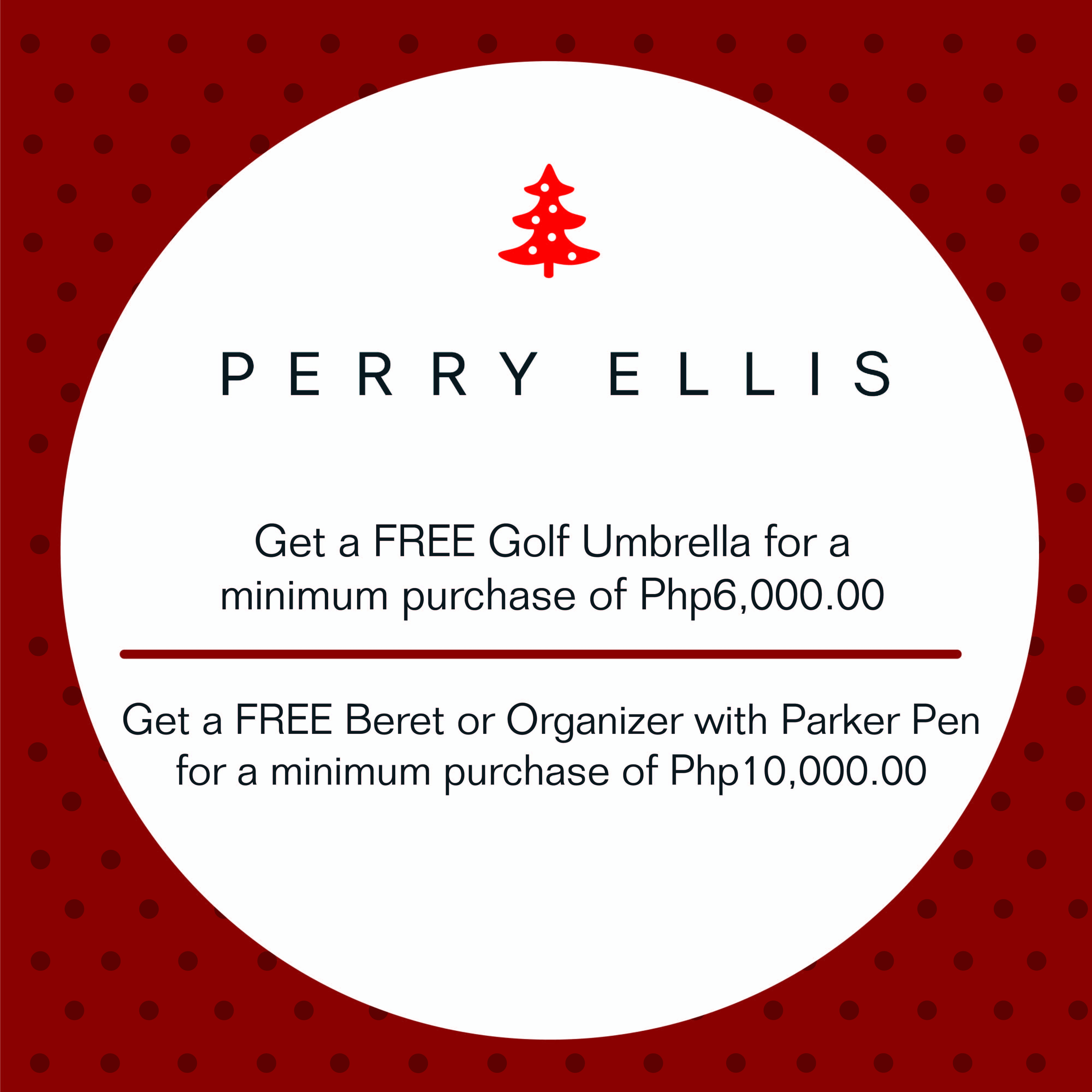 Perry Ellis Christmas Holiday Promo November - December 2013