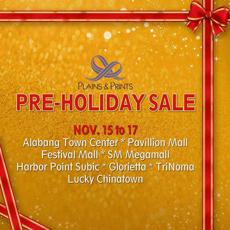 Plains & Prints Pre-Holiday Sale November 2013