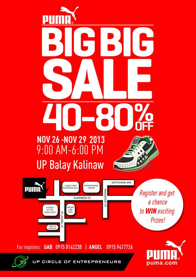 Puma Big Big Sale @ UP Balay Kalinaw November 2013