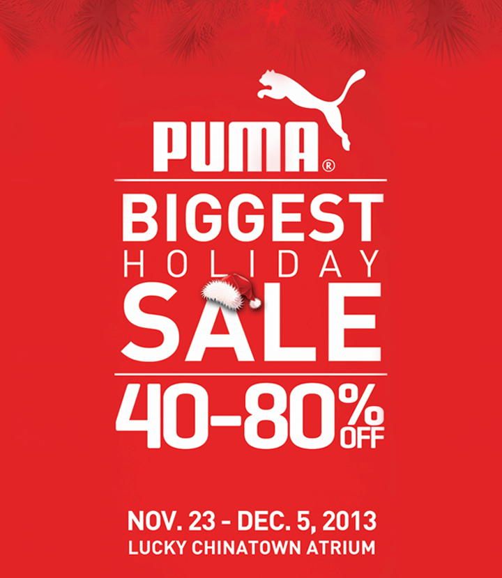 71a0bedeb719 Puma Holiday Sale   Lucky Chinatown Mall November - December 2013 ...