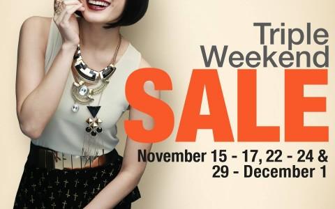 Robinsons Department Store Triple Weekend Sale November - December 2013