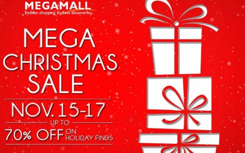 SM Megamall Mega Christmas Sale: November 15 – 17, 2013