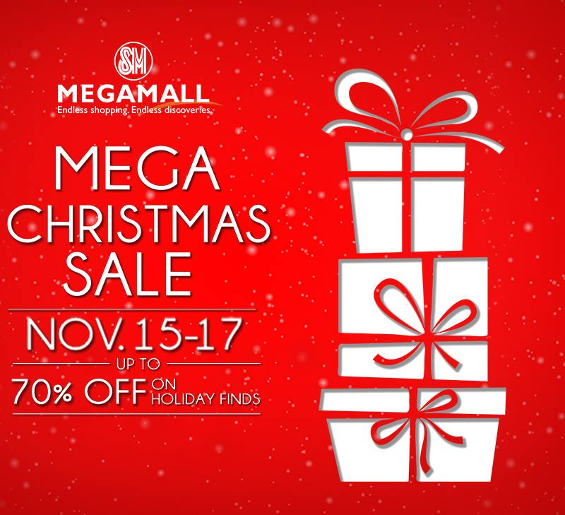 SM Megamall Mega Christmas Sale November 2013