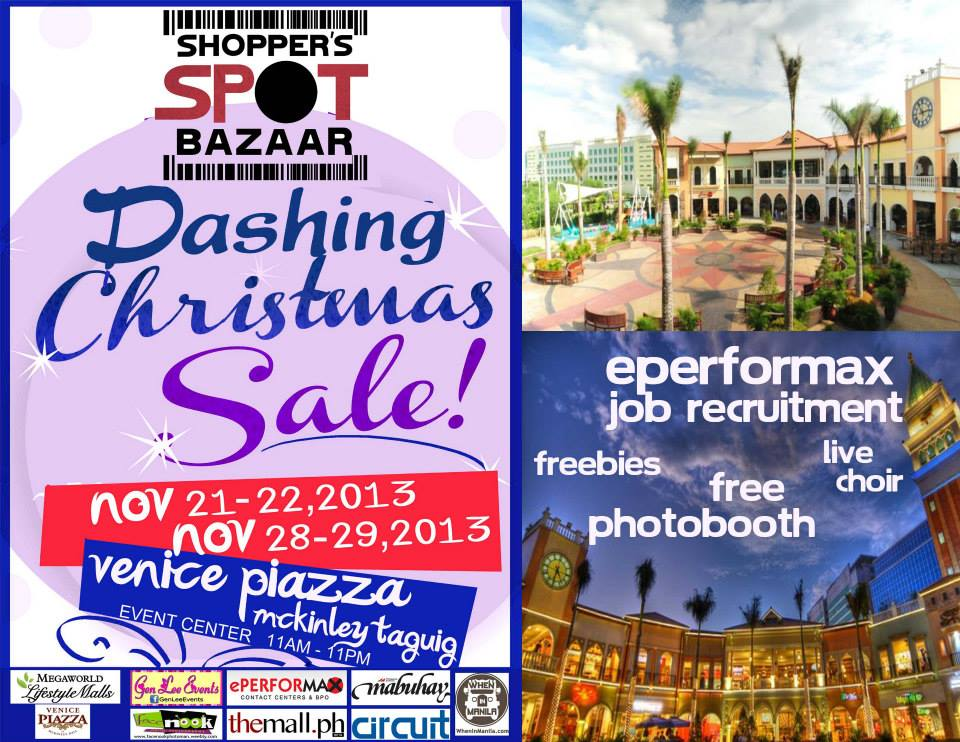 Shopper's Spot Bazaar Dashing Christmas Sale @ Venice Piazza Mckinley November 2013