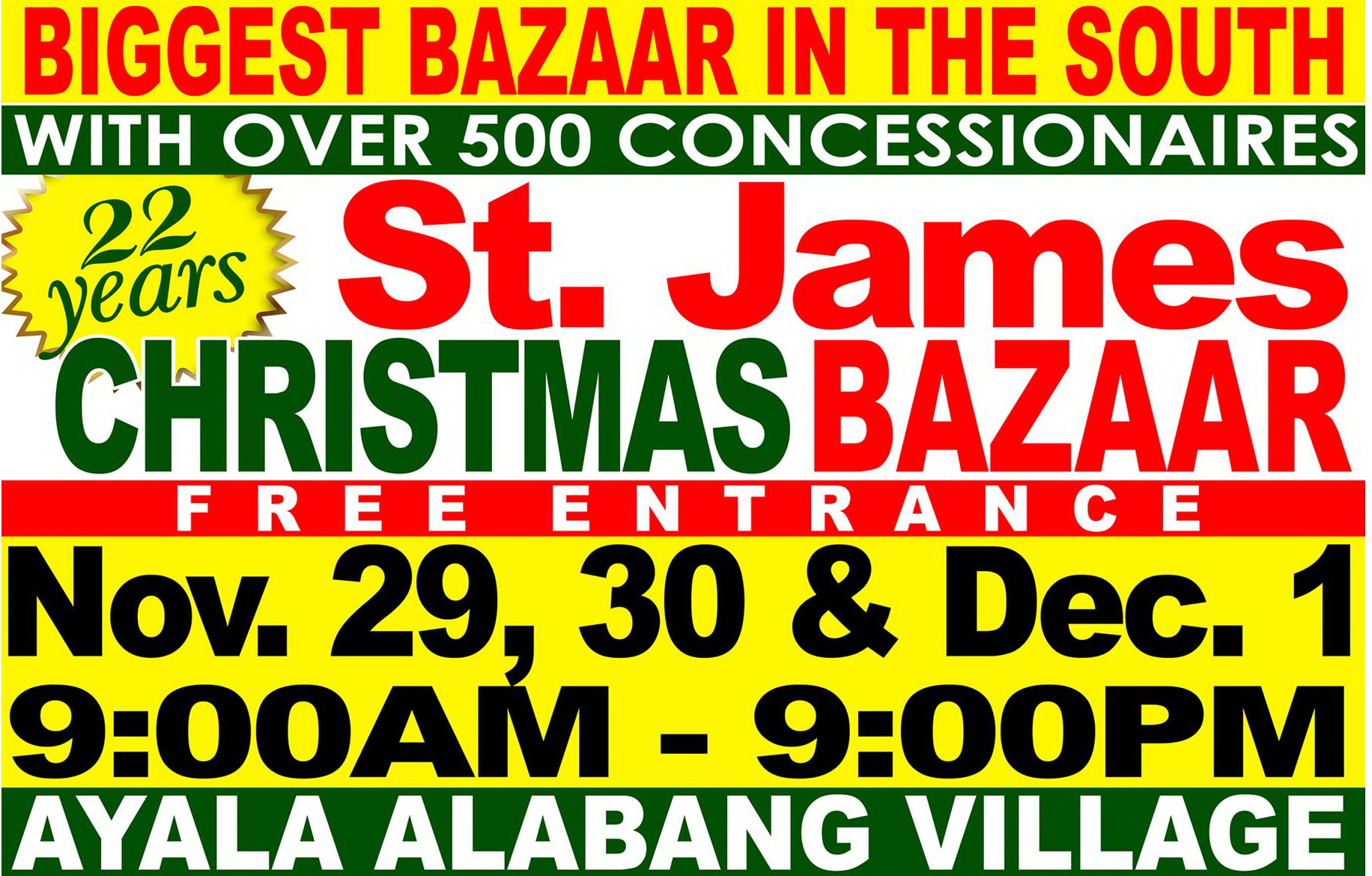 St. James Christmas Bazaar @ Ayala Alabang Village November - December 2013