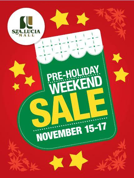 Sta. Lucia Mall Pre-Holiday Sale November 2013
