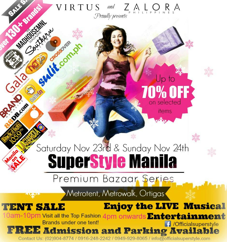 SuperStyle Manila Premium Bazaar @ Metrotent November 2013