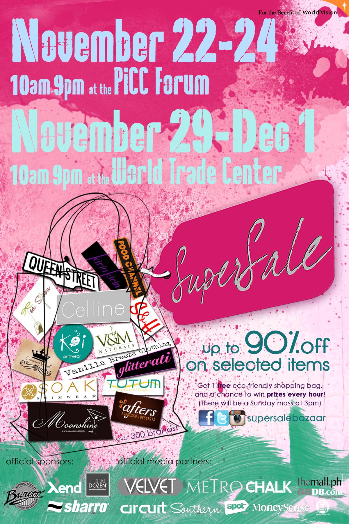 SuperSale Holiday Bazaar @ PICC Forum November 2013
