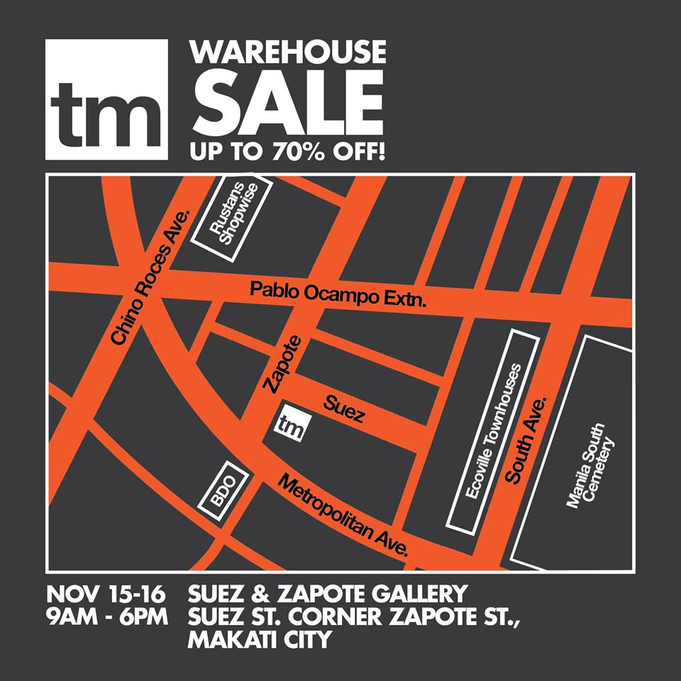 TM Warehouse Sale Location Map
