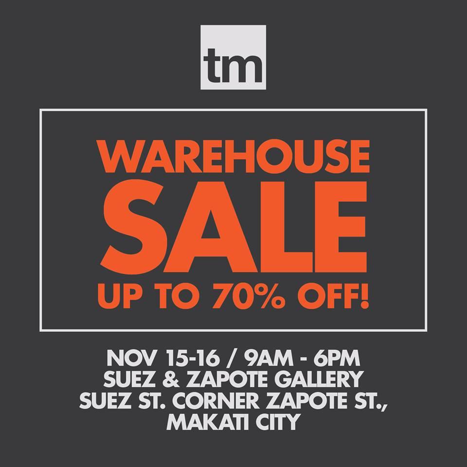7266cf8560ce50 Team Manila Warehouse Sale  November 15 – 16