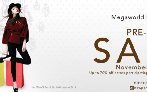 The Great Megaworld Lifestyle Malls Pre-Holiday Sale November 2013