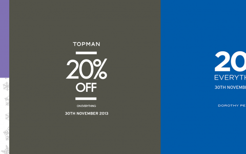Topshop, Topman, Dorothy Perkins & Warehouse One Day Sale November 2013