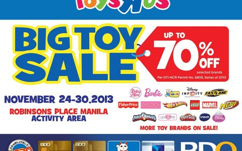 Toys R Us Big Toy Sale @ Robinsons Place Manila November 2013