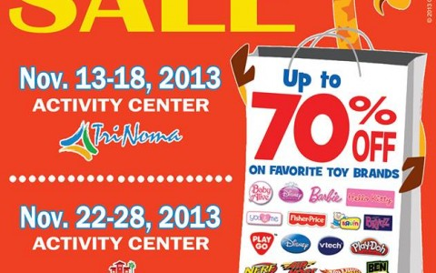 Toys R Us Big Toy Sale @ Trinoma & Alabang Town Center November 2013