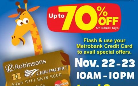 Toys R Us Flash Sale @ Glorietta November 2013