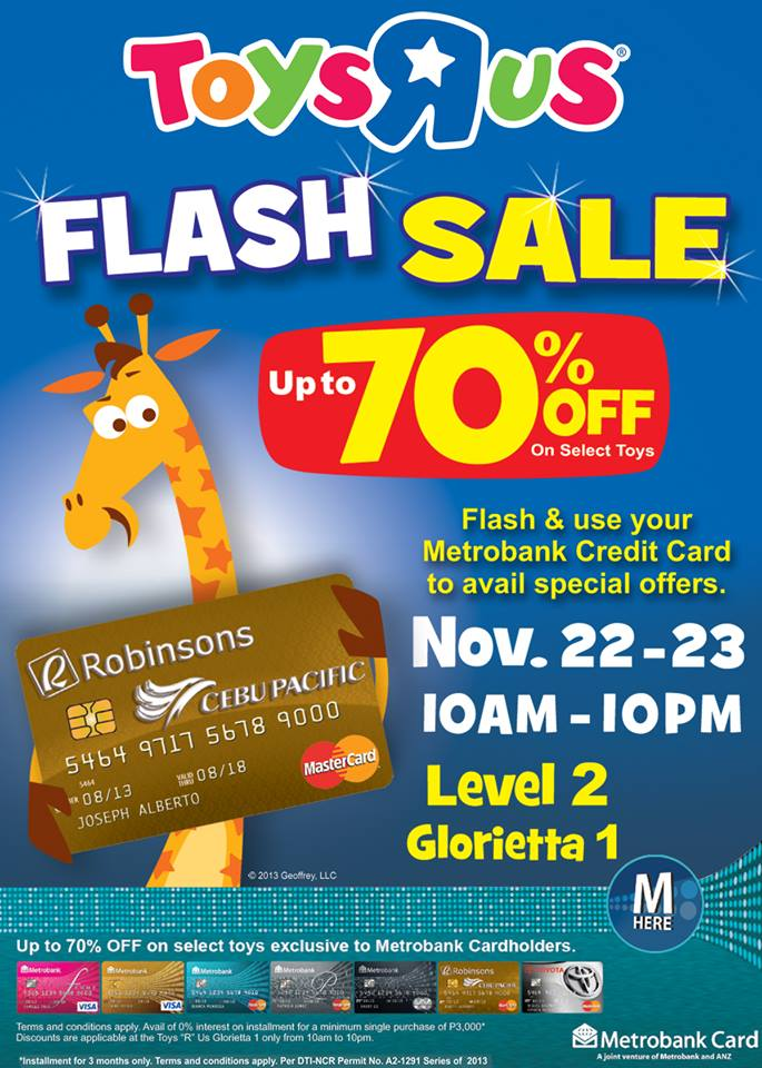 Toys R Us Flash Sale @ Glorietta November 2013